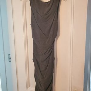 NICOLE MILLER charcoal grey rusched stretch 4